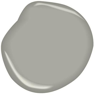 "Platinum Gray Benjamin Moore PM-7 ""A classic mid-tone gray, this adaptable shade pairs especially well with warm yellows."""
