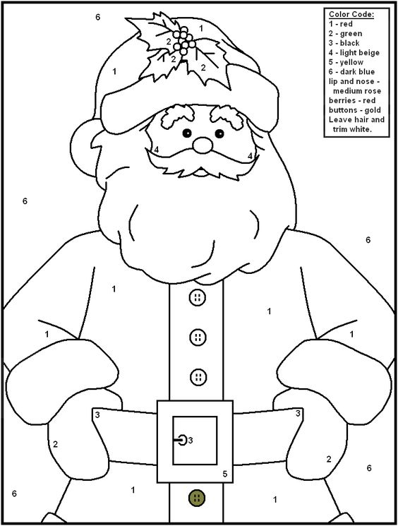 FREE Printable Christmas Color by Number Pages - Merry Games ...