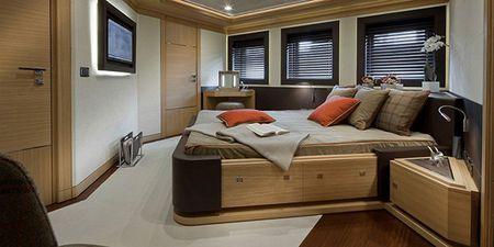mega yacht bedroom