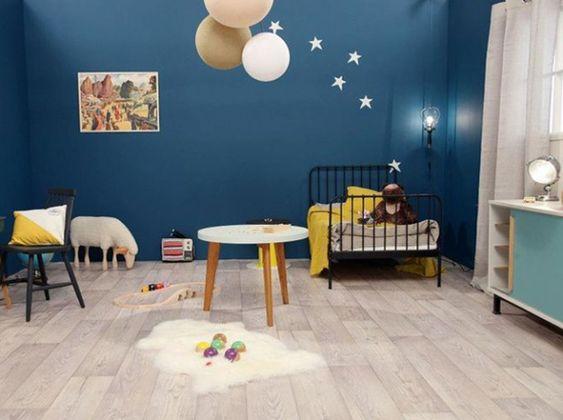 Chambre bleue objet deco Org