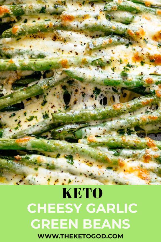 Keto Cheesy Garlic Green Beans