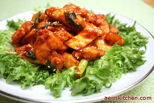 """Sempio Dakgalbi  """"...The spicy and slightly sweet chicken, vegetables, and rice cakes tastes very good.""""  From Aeri's Kitchen"""