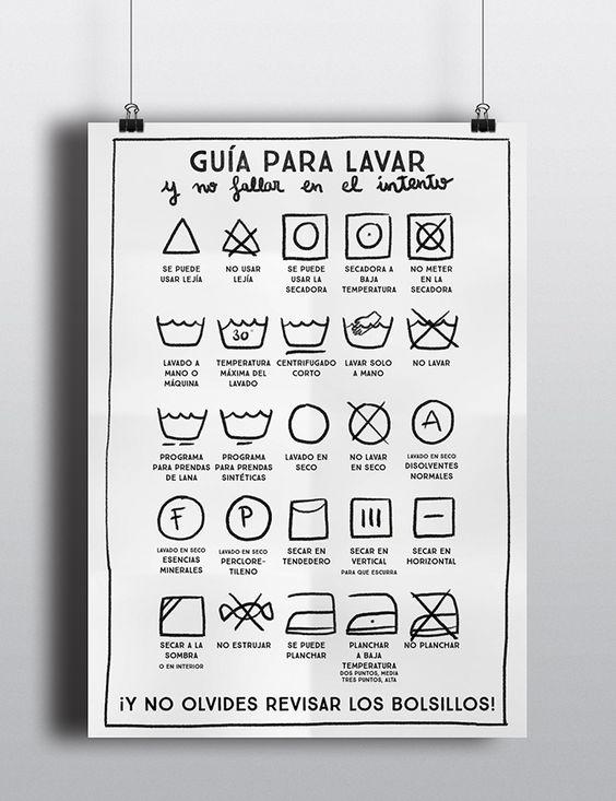 milowcostblog: imprimible: guía para lavar