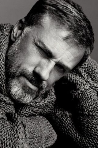 "Christoph Waltz. Totally blew me away/scared the crap out of me in ""Inglourious Basterds"". Want to see more of him. In interviews I've seen of him he is thoughtful, wonderfully introspective, humble, kind and sweetly engaged with other people. Really like him."