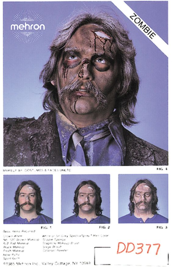 costume makeup: instruction sheets zombie Case of 50