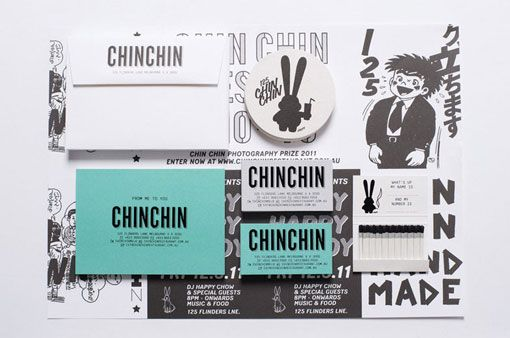 Chin Chin branded Collateral | Designer: Projects of Imagination - http://www.projectsofimagination.com