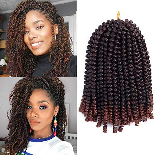 Amazon Com Ayana Spring Twist Hair 3 Packs Ombre Crochet Braids