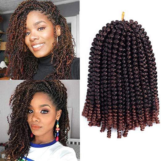 Amazon Com Ayana Spring Twist Hair 3 Packs Ombre Crochet Braids