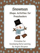 Snowman Shape Activities for Preschoolers