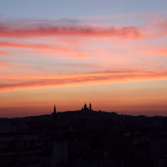 # Bisous Paris   Audrey Leroy's Instagram: http://instagram.com/p/pi7ZSFjb_h/?modal=true  #instagram #paris #sunset #montmartre