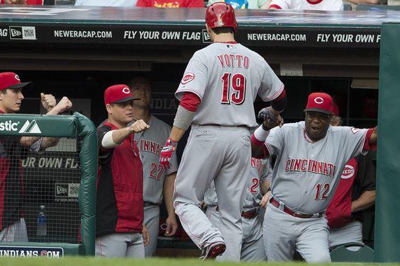 Joey Votto Photo - Cincinnati Reds v Cleveland Indians: