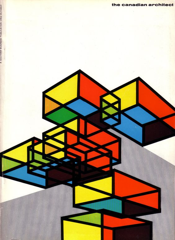 The Canadian Architect cover, designed by Laszlo Buday