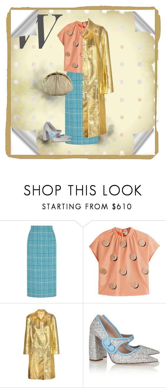 """""""Gold & Silver"""" by vintagecarwen ❤ liked on Polyvore featuring Miu Miu, Fendi and vintage"""