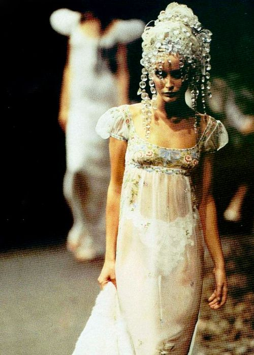 Nadja auermann givenchy and haute couture on pinterest for John galliano wedding dress