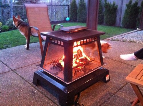 Char-Broil Trentino Deluxe Outdoor Fireplace | Home & You | Pinterest