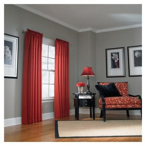 The Red Sublimates The Gray In The Decor Living Room Red Red