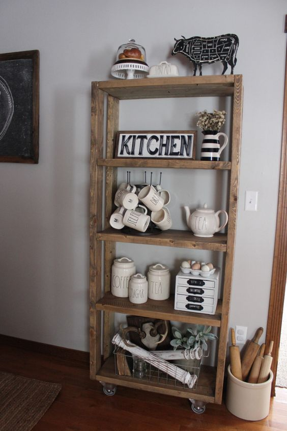 DIY shelving unit: