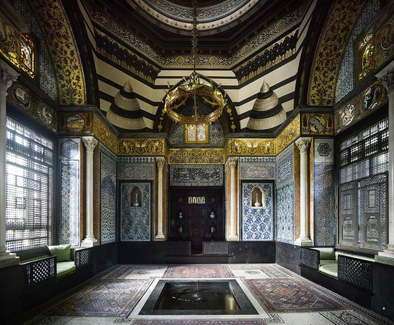 Leighton House Museum, London designed by George Aitchison | Persian | Tiles | Moorish | Arab Hall | Turkey | Marble | Damascus | Architecture | Interiors | Tiles | Mosaic: