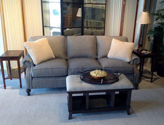 Beautiful Navy Tweed Sofa by Wesley Hall.