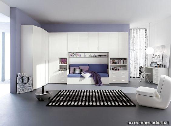 Camera Dream armadio ponte matrimoniale - DIOTTI A&F Arredamenti ...