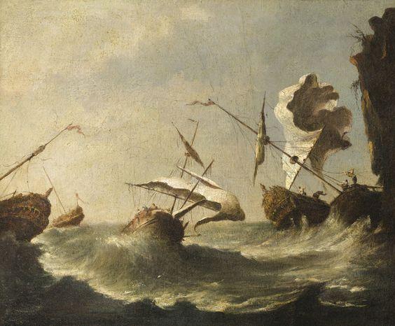 navires dans la tempête | marine | sotheby's pf1640lot8tp3jen: