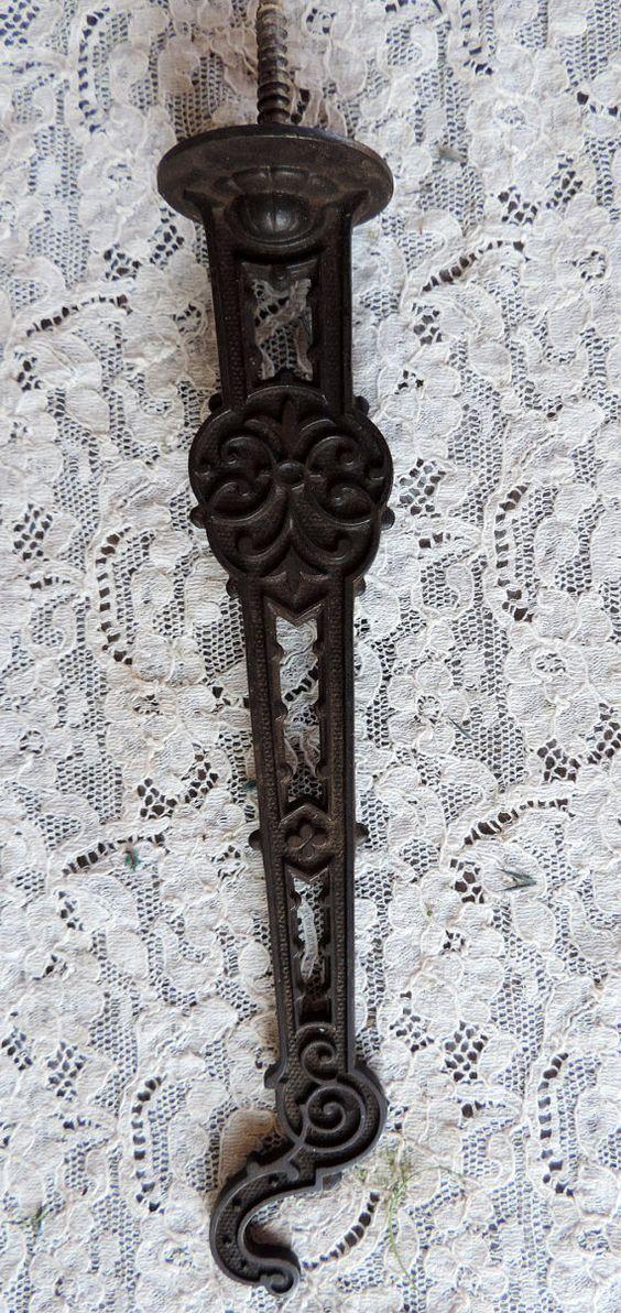 Antique Shelf Lamp Hook or Plant Hanger Cast by VintagePolkaDotcom