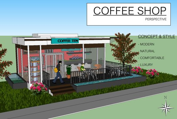 Small Coffee Shop design