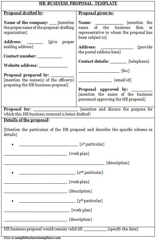 Business Proposal Templates Examples Sample Small Business - business proposal template