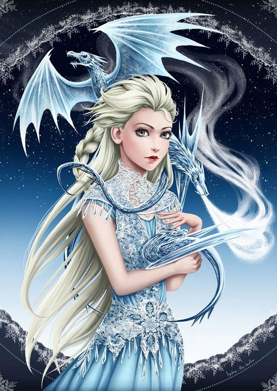 Elsa & Daenerys Targaryen Fusion by lydia-the-hobo
