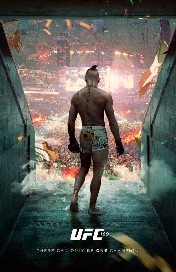 Epic #UFC 189 fan-made event poster w/ Conor McGregor : if you love #MMA, you will love the #MixedMartialArts inspired gear at CageCult: http://cagecult.com/mma
