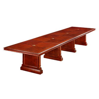 Flexsteel Contract Keswick Expandable 18' Rectangular Conference Table Size: 4' L