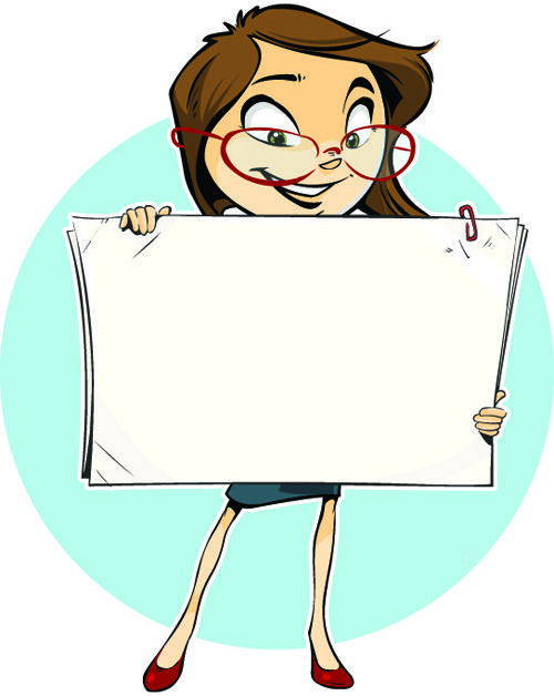 Set of Business woman Image vector 04