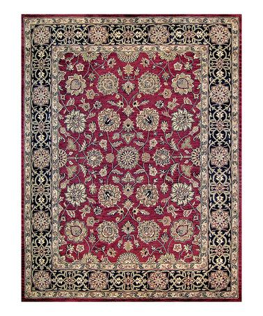 Take a look at this Red & Black Maple Wool Rug by Loloi Rugs on #zulily today!