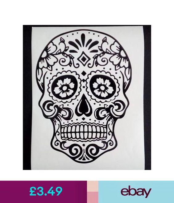 "sugar skull Vinyl decal sticker 11/"" x 8.5/"" ikea frame glass wall day of the dead"