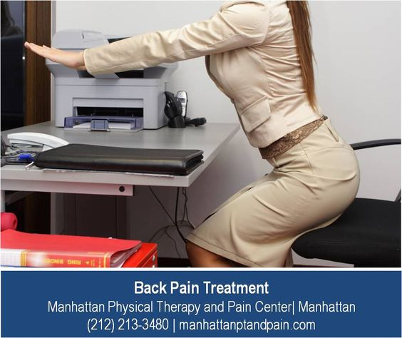 http://manhattanptandpain.com/back-pain/ –  Sitting all day in an office can cause hidden back problems for even the healthiest individual. Our clinic, Manhattan Physical Therapy and Pain Center provides comprehensive back pain treatment in Manhattan, with great knowledge of the problems facing those who spend a lot of the day sitting in uncomfortable office chairs.