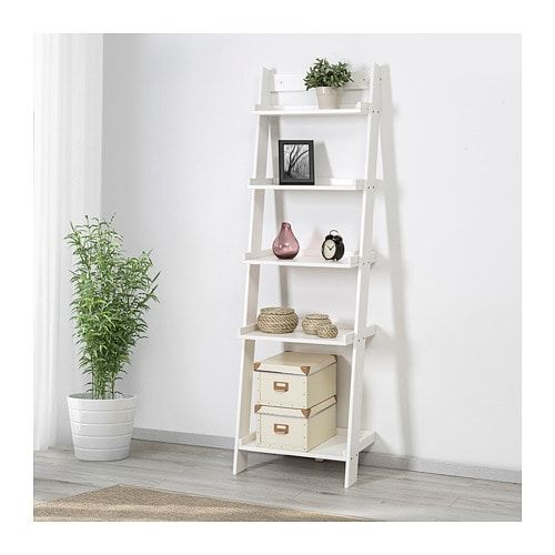 Hoghem Wall Shelf White 22 1 2x73 5 8 Ladder Shelf Decor