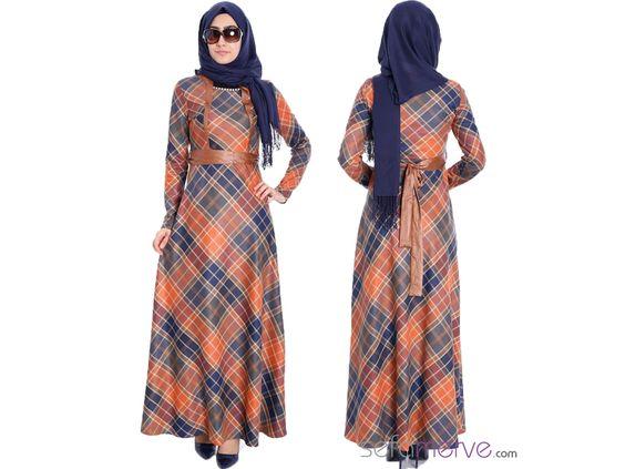Tesettür Elbise 6968-02 - Farklı Renk Seçenekleriyle!  #sefamerve #tesetturgiyim #tesettur #hijab #tesettür