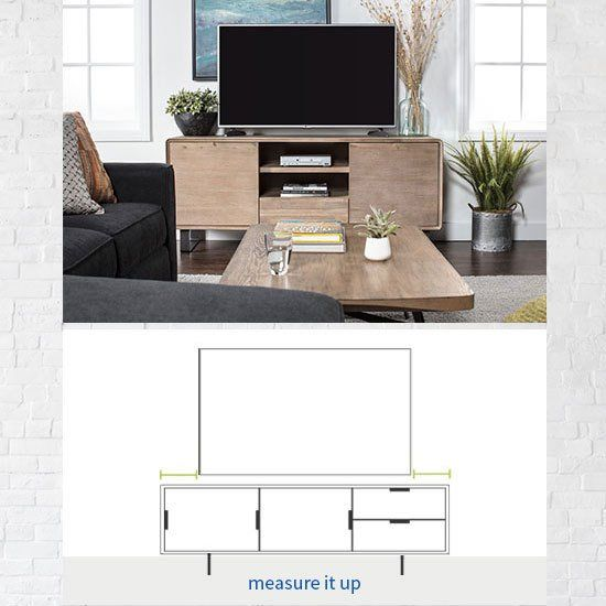 Tv Stand Size Guide Read This Before Buying Living Spaces Tv Stand Tv Size Guide Tv Stand Console