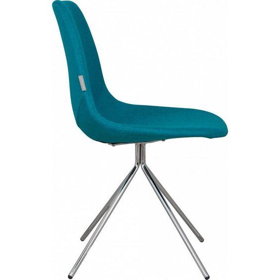 Zuiver Stoel Fourteen up chrome - blauw - Designwonen.com