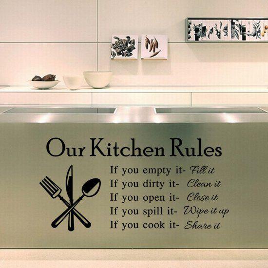 Muursticker Wanddecoratie Keukenregels Keuken Nr 569 Keuken Regels Muurstickers Keuken
