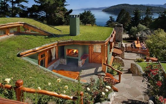 Bariloche, #Argentina #architecture - amazing earth-sheltered house: