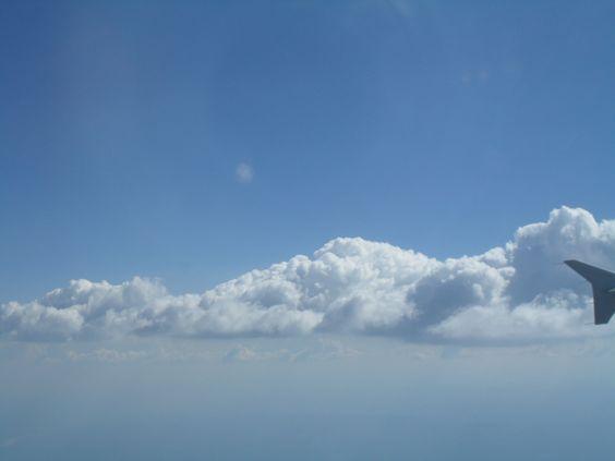 En el aire....