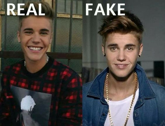 Justin Bieber - real smile vs fake smile | Beliebers ...