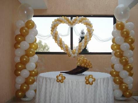 Decoracion con globos para bodas buscar con google Ornamentacion con globos