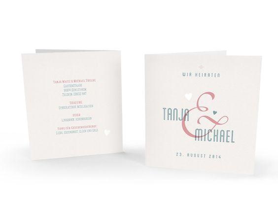 Hochzeitskarten - Quadratische Hochzeitskarte : 148 mm inkl Umschlag