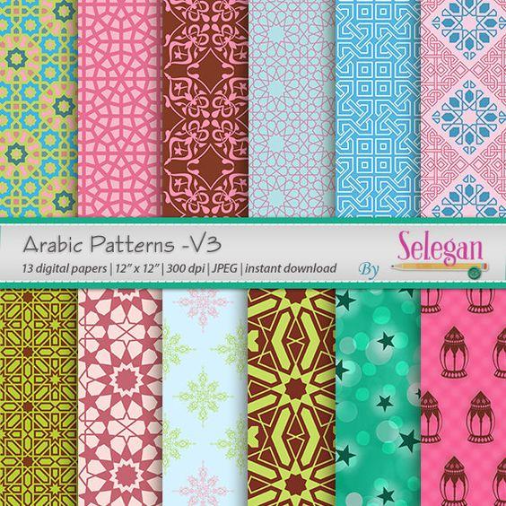 Eid Dekoration Arabisch Muster V3Digital Scrapbooking von Selegan