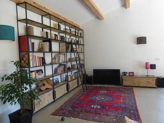 """Blog de La Maison de l'Imaginarium - L'ambiance """"factory"""" 100% sur mesure !: Meubles TV"""