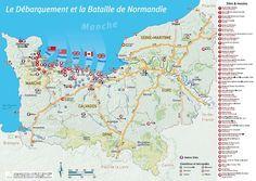 Cliquez pour agrandir la carte des plages du Débarquement et Bataille de Normandie (c) P3999-Actual