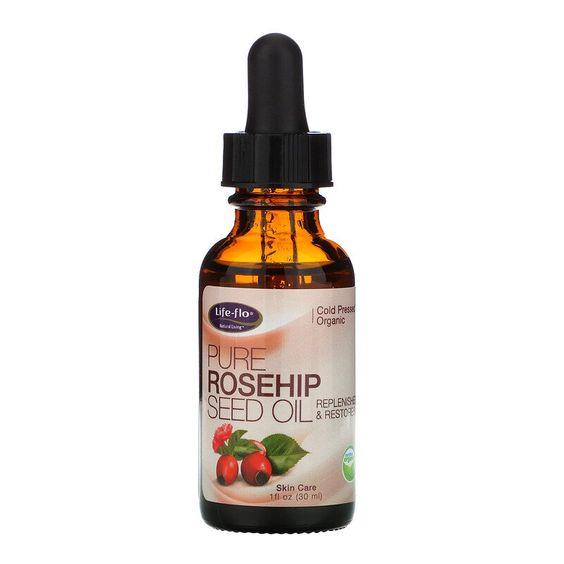 Life Flo زيت بذور ثمر الورد النقي للعناية بالبشرة 1 أونصة 30 مل Rosehip Seed Oil Pure Products Seed Oil