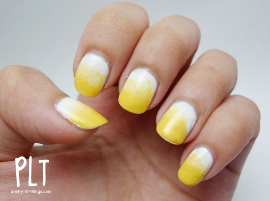 yellow ombre nails